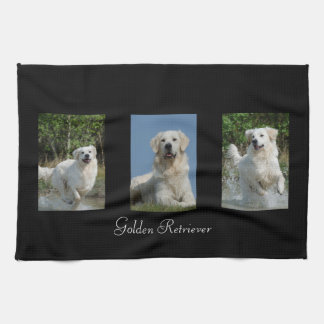 Golden Retriever dog lovers kitchen custom towel