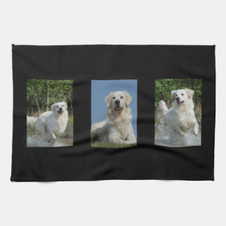 Golden Retriever dog lovers kitchen towel