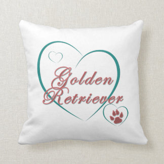 Golden Retriever Dog Lovers Throw Pillow