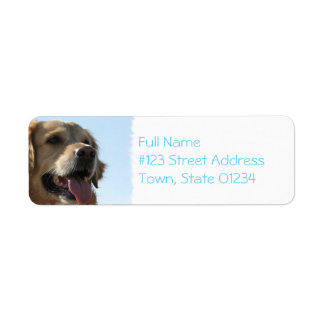 Golden Retriever Dog Mailing Label Return Address Label