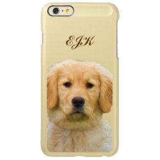 Golden Retriever Dog, Monogram iPhone 6 Plus Case