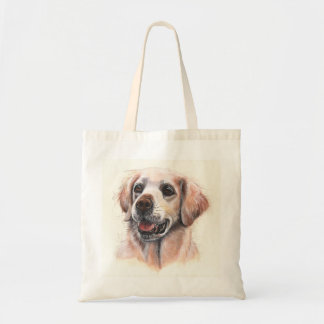 Golden Retriever Dog Painted in Watercolour Tote Bag