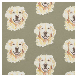 Golden Retriever Dog Pet Animal Print Fabric
