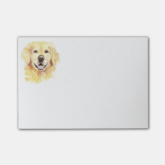 Golden Retriever Dog Pet Animal watercolor Post-it Notes