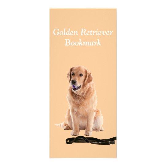 Golden Retriever dog photo custom name bookmark Rack