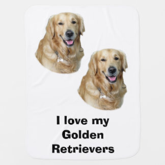 Golden Retriever dog photo portrait Baby Blanket