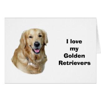 Golden Retriever dog photo portrait Card