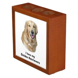 Golden Retriever dog photo portrait Desk Organiser