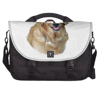 Golden Retriever dog photo portrait Laptop Bags