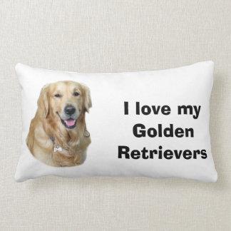 Golden Retriever dog photo portrait Lumbar Cushion