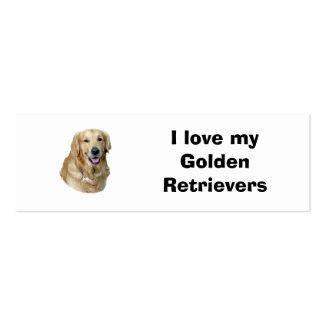 Golden Retriever dog photo portrait Pack Of Skinny Business Cards