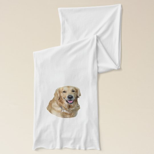 Golden Retriever dog photo portrait Scarves