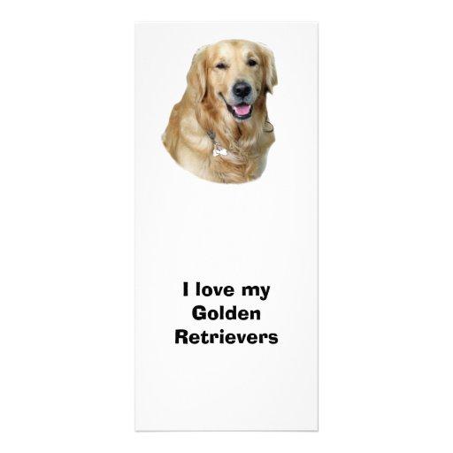 Golden Retriever dog photo Full Color Rack Card
