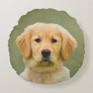 Golden Retriever Dog Round Cushion
