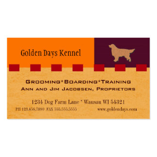 Golden Retriever / Dog Services Business Card
