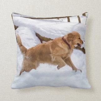 Golden Retriever Dog Throw Pillow
