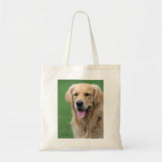 Golden Retriever dog tote bag, gift idea Budget Tote Bag