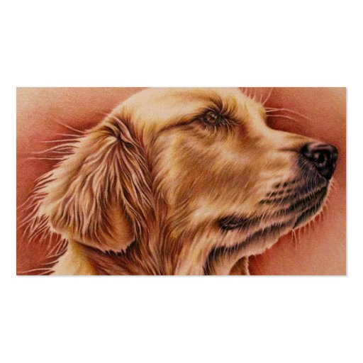 Golden Retriever Drawing on Business Card