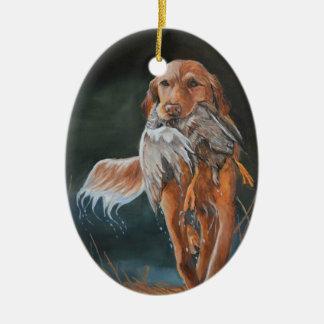 Golden Retriever Duck Dog Art Ornament