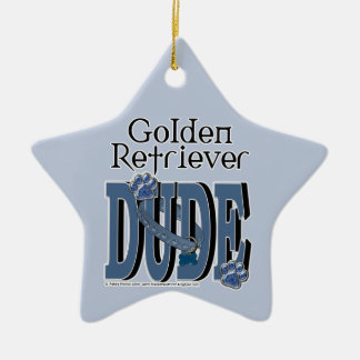 Golden Retriever DUDE Christmas Ornament