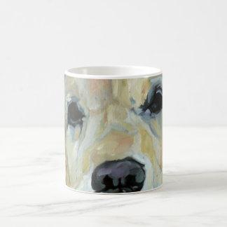 Golden Retriever Eyes and Nose Art Mug