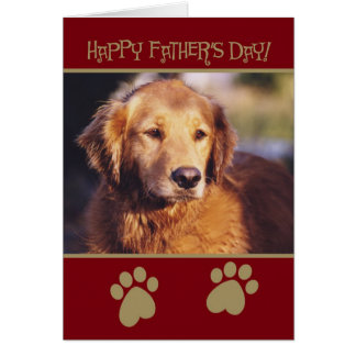 Golden Retriever Father's Day Card
