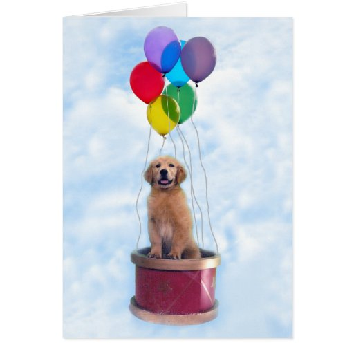 Golden Retriever Forever Young Greeting Card