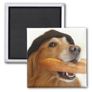 Golden Retriever French Bread Magnet