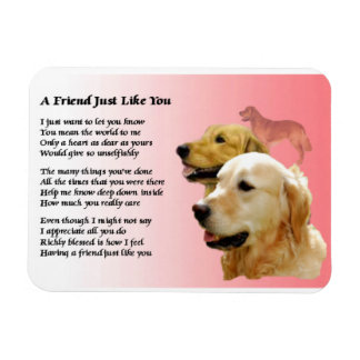 Golden Retriever Friend Poem Magnet