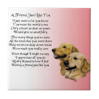 Golden Retriever - Friend Poem Tile