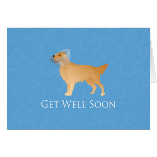 Golden Retriever Get Well Soon Card