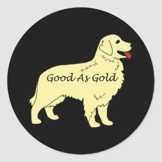 Golden Retriever Good As Gold Sticker