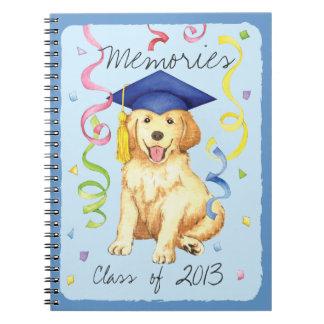Golden Retriever Graduate Spiral Notebook
