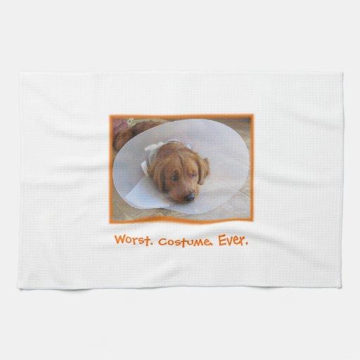 Golden Retriever Halloween Kitchen Towel