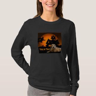 Golden Retriever Halloween Ladies T-Shirt