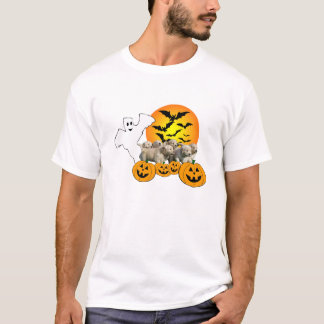 Golden Retriever Halloween Ladies T-Shirt