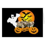 Golden Retriever Halloween Puppies Greeting Card