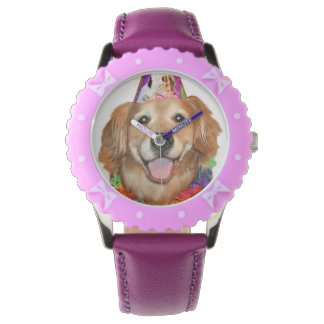 Golden Retriever Happy Birthday Watch