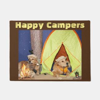 Golden Retriever Happy Campers Doormat