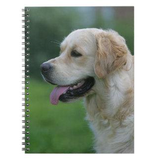 Golden Retriever Headshot 2 2 Spiral Notebook