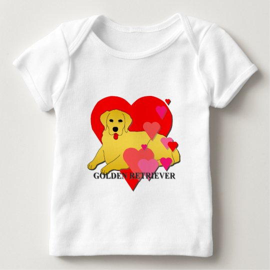Golden Retriever Hearts Baby T-Shirt