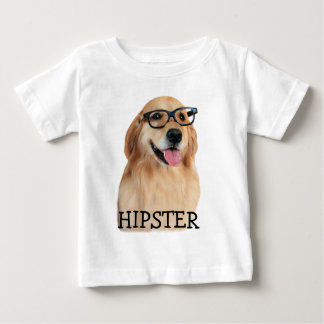 Golden Retriever Hipster Nerd Baby T-Shirt