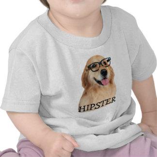 Golden Retriever Hipster Nerd Tee Shirt