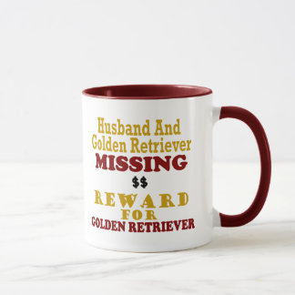 Golden Retriever & Husband Missing Reward For Gold Mug