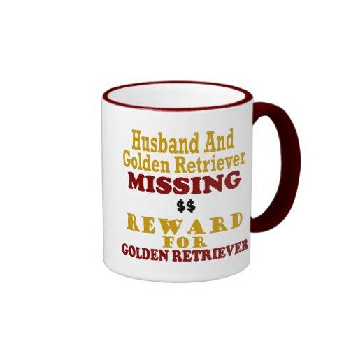 Golden Retriever & Husband Missing Reward For Gold Mugs