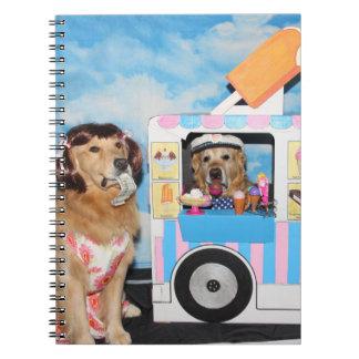 Golden Retriever Ice Cream Truck Spiral Notebook