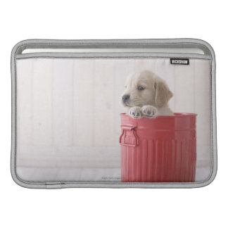 Golden Retriever in Bucket MacBook Air Sleeves