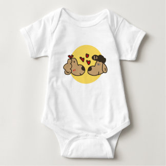 Golden Retriever in Love Baby Bodysuit