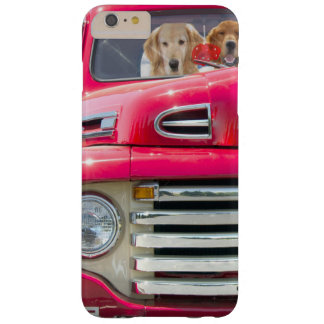 golden retriever in red retro truck barely there iPhone 6 plus case