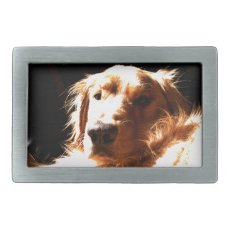 Golden Retriever In Sunlight Belt Buckle